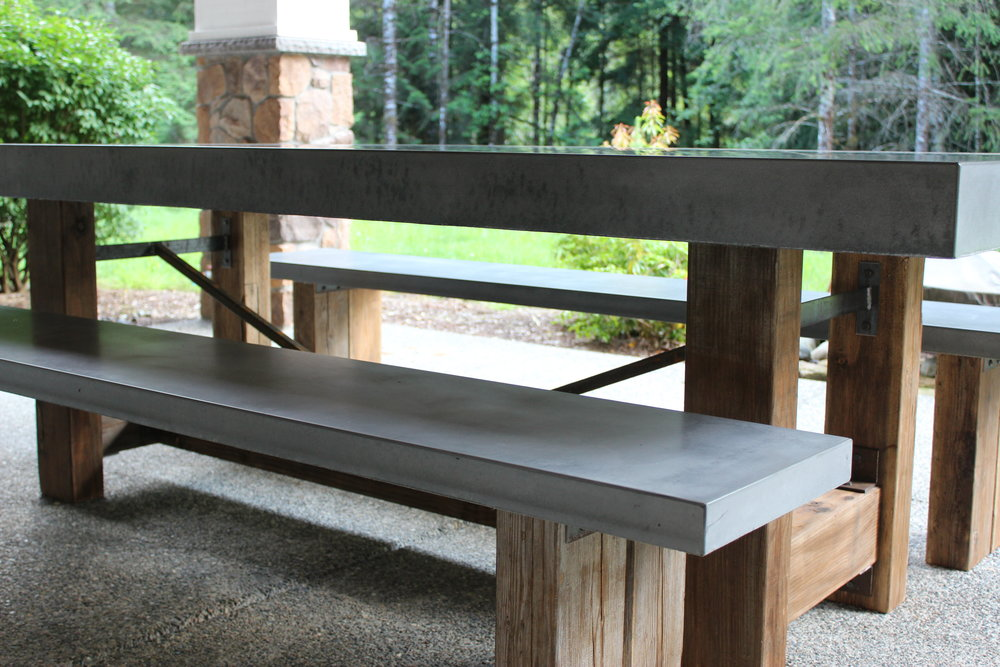 """the """"standard"""" table with benches"""