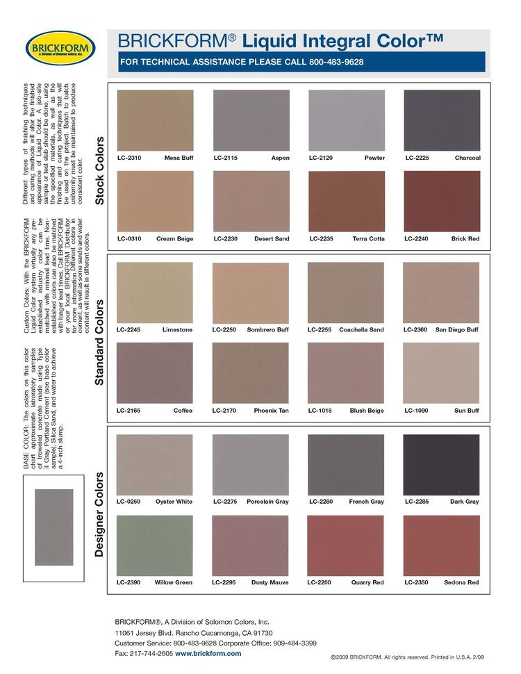 Pigments Alchemy Concrete Works
