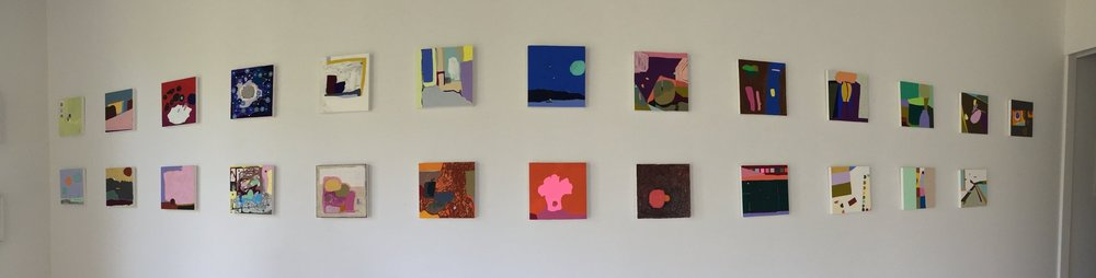 "Studio installation view. (""Recollection,"" series in progress.)"