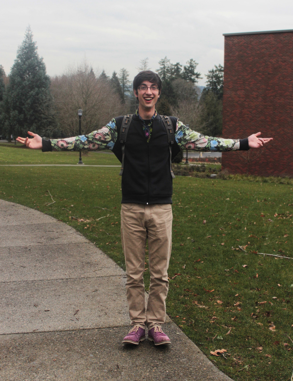 """I just thought, What Would Aeneas Wear? Floral Prints."" — Alex McGrath '16"