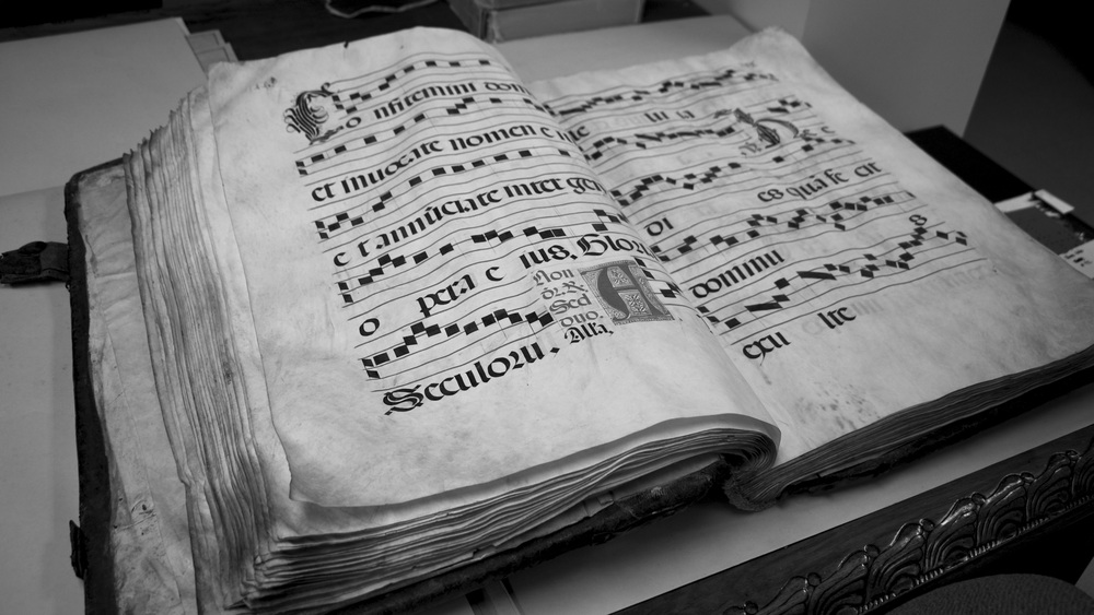 Antiphonary from the 1500s, recently donated to the College
