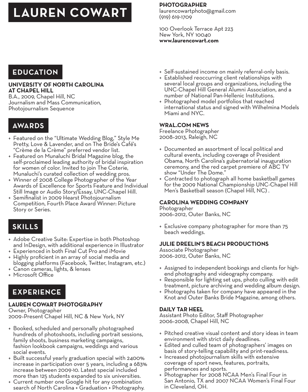 resume lauren cowart photography laurencowart 1 jpg