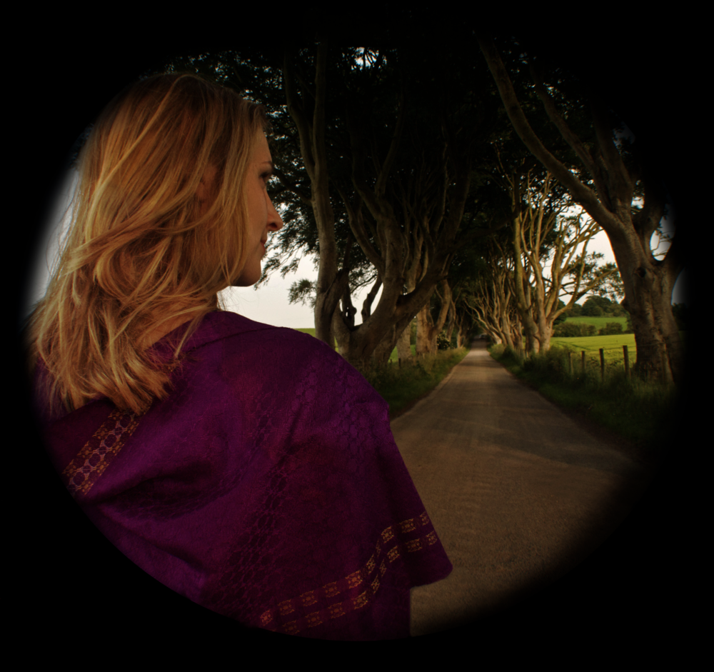 'Petal & Stem' scarf (Shot at Dark Hedges, Co. Antrim, Ireland)