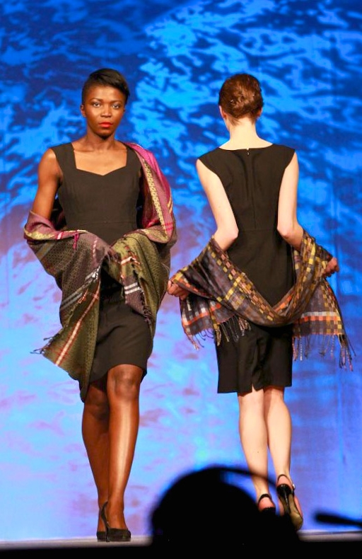 'Signatures of Ireland' & 'Liffey at Night'  at Irish Fashion Innovation Awards 2013, image: divmedia.ie
