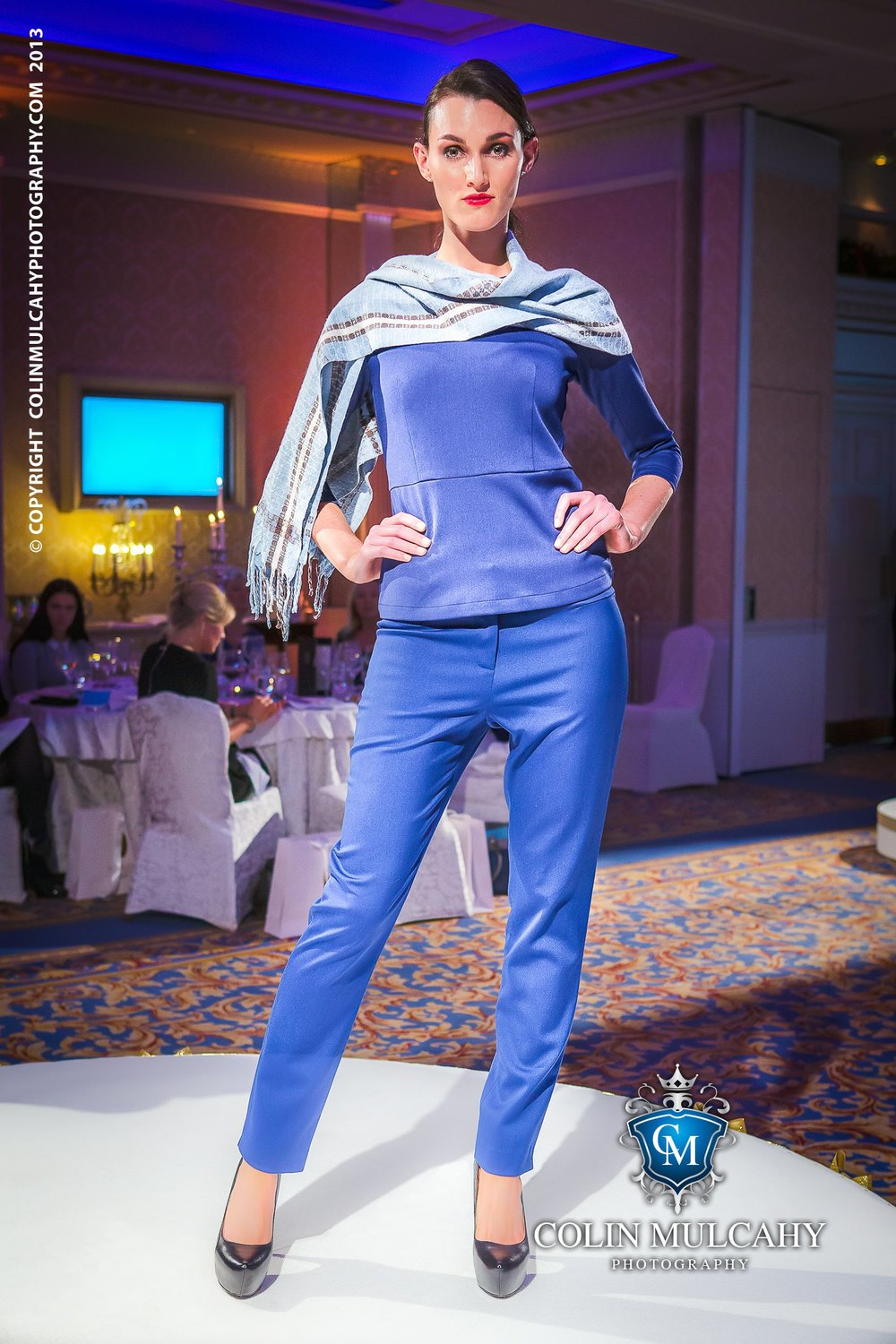 'Dublin Bay' with an outfit by  Lennon Courtney  at  Chic at the Shelbourne  for VSO Ireland, image: Colin Mulcahy