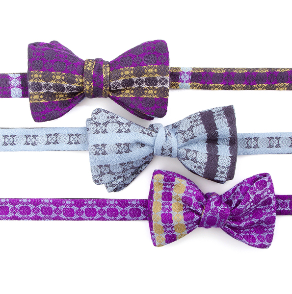 irish-silk-bow-ties-dicky-bows-purple-gift-wedding-groom