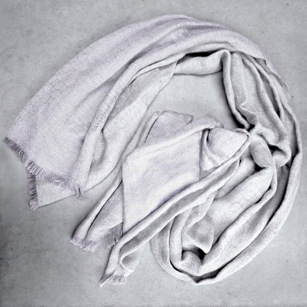 brendanjoseph_silvershore_linen-and-silk-shawl-wrap-stole-pashmina-wedding-corporate-gifts-silver-grey-dublin-ireland-belfast-lough-woven-handmade-in-ireland-luxury-designer-scarf