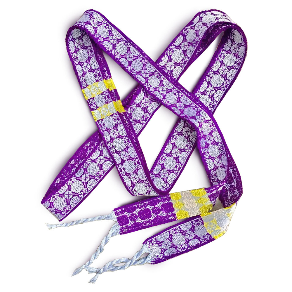 Handfasting Ribbons - Order your luxury silk handfasting ribbon and have the couple's initials monogrammed at each end of the ribbon, for a personal touch.