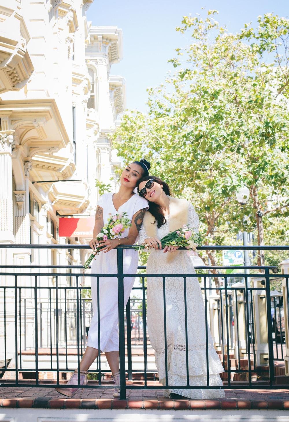Bridal Marche banister