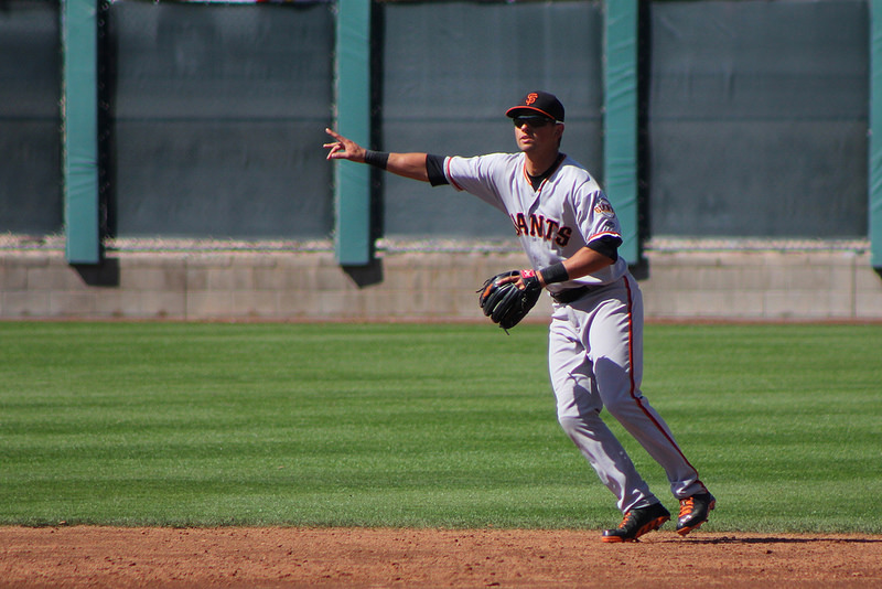 Giants prospect Joe Panik started at second base with Triple-A team at minor league camp. (Conner Penfold / Giant Potential)