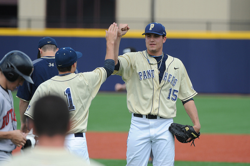 Black saved six games for the University of Pittsburgh in his two collegiate seasons. (Pitt Media Relations)