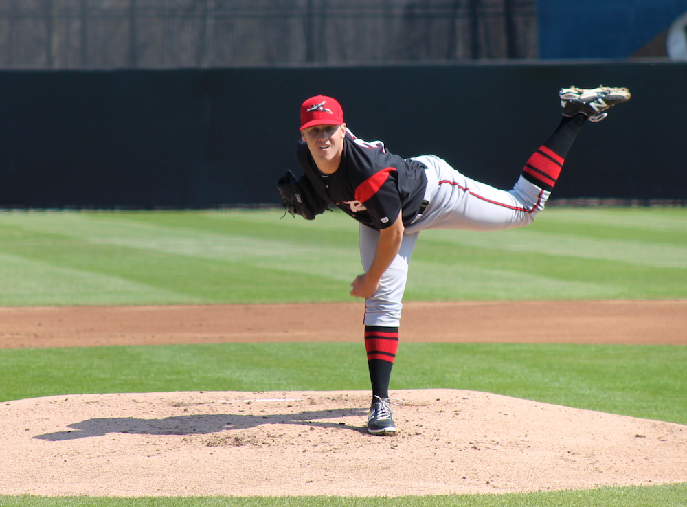 Ty Blach in 2014 with the Richmond Flying Squirrels. (Lauren Crown)