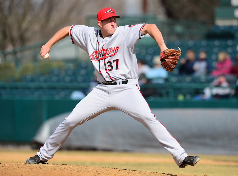 Derek Law with Richmond in 2014 (Kevin Pataky/MiLB.com)