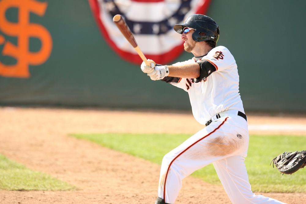 Infielder Brandon Bednar has played 28 games at second base, and two at shortstop in 2016 for the San Jose Giants (MiLB.com)