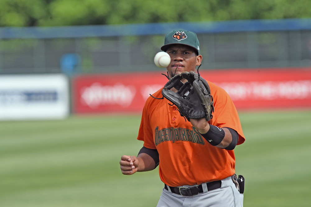 Miguel Gomez leads all Giants' minor leaguers in wRC+ and batting average. (Brian McLeod/MiLB.com)