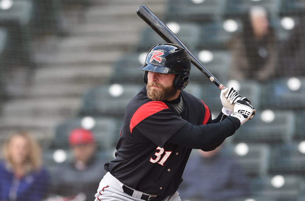Richmond Flying Squirrels right fielder Tyler Horan accomplished a rare feet on Tuesday — hitting two home runs in the same inning. (Kevin Pataky/MiLB.com)