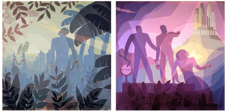 (l) Into Bondage (1936), (r) Aspirations (1936), Aaron Douglas