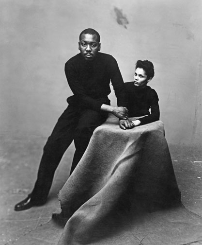 Jacob Lawrence with wife Gwendolyn Knight Lawrence
