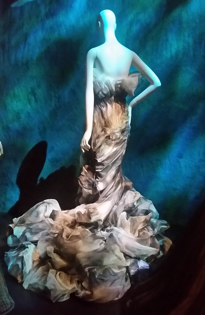 The Little Mermaid, Jean Louis Sabaji sea foam evening gown.