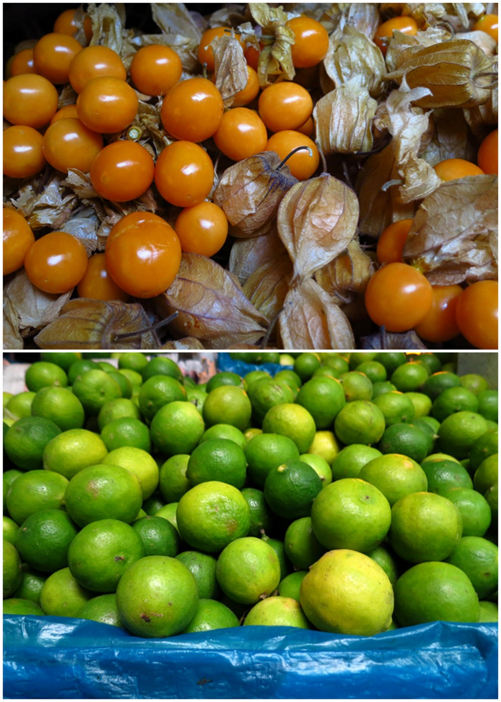 Peruvian ground cherries (aguaymanto) and limes, a staple to Peruvian cuisine