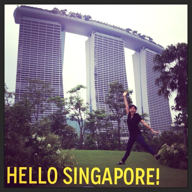 I jump, that's what I do.  That's me jumping in front of the Marina Bay Sands.