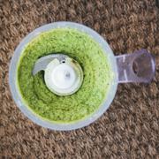 Pasta z zielonego groszku z miętą