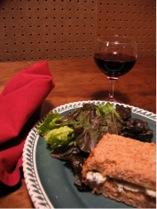 gorgonzola sandwich, burgundy
