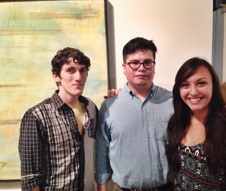 Hosts/curators Robert Torres & Sebastian H. Paramo, with poetry editor Catherine Chambers