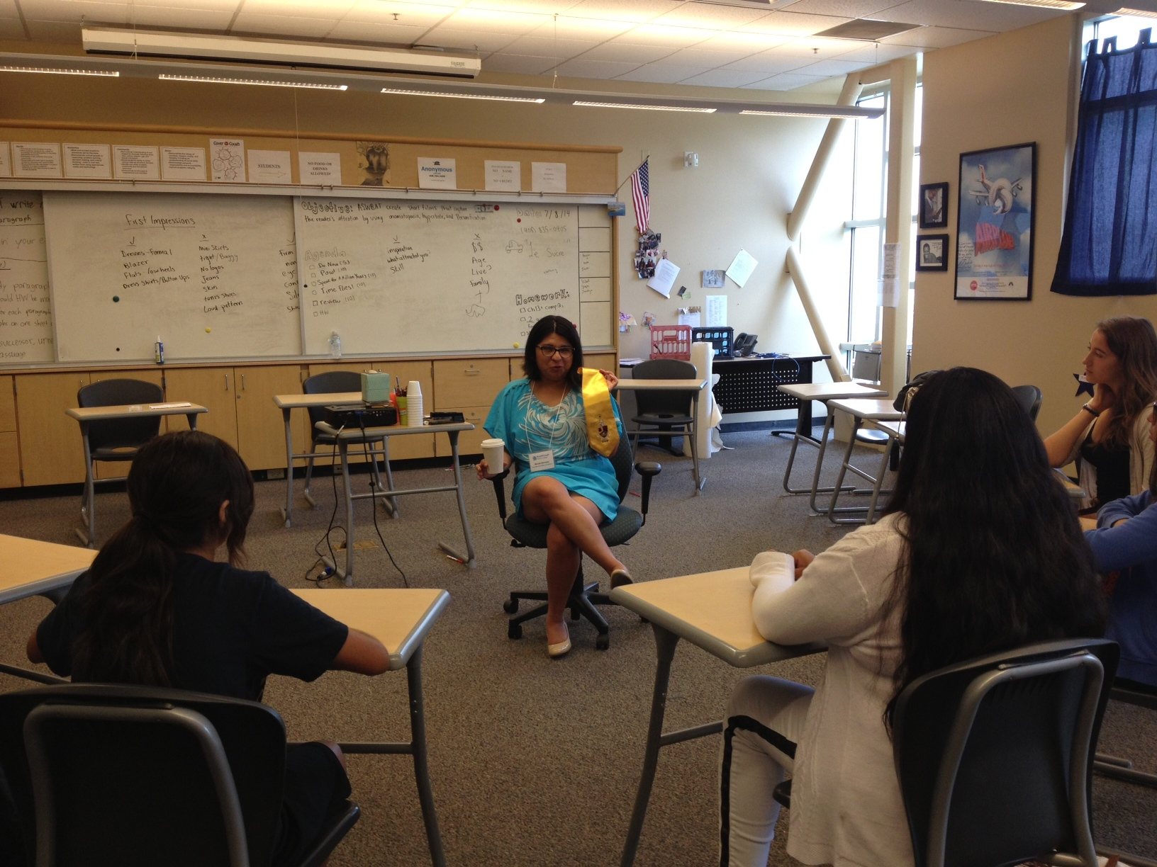 Speaking to 7th graders about Epifania at Silicon Valley Breakthrough, 2014.