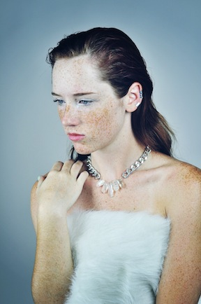 Accessories shown: Long Ear cuff , Small Ear Cuff, Rhine necklace