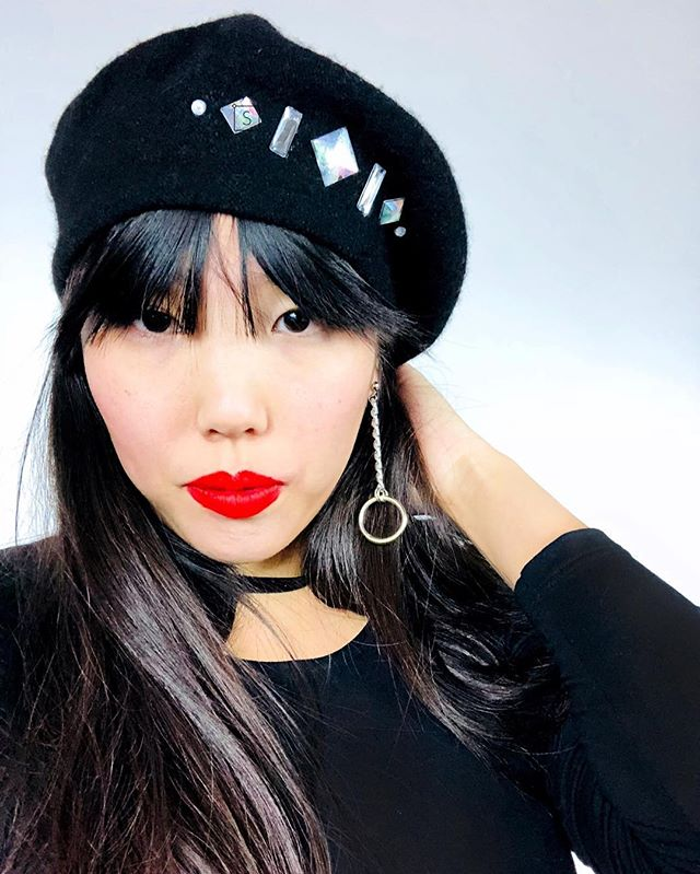 Berets, Earrings, and tons more accessories just hit the site! @haejeee is wearing our Rhinestone Beret and Drop O Ring Earrings! Customize the colors or pick a different combination in new shop categories! #motivatedmonday #newarrivals #affordablefashion #stinnys
