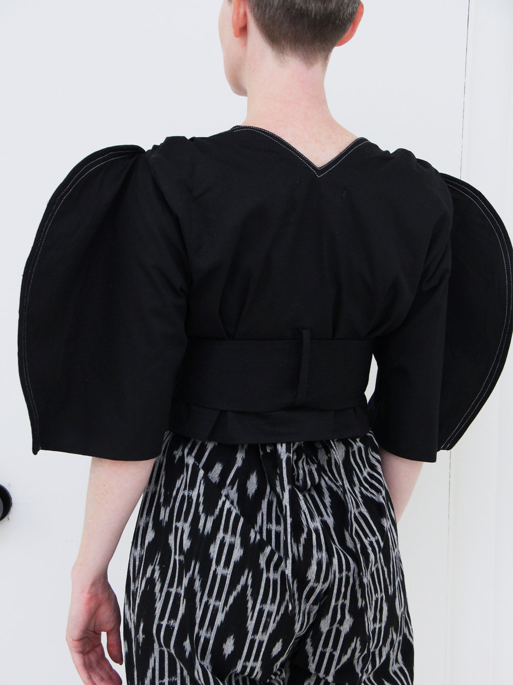 be30098f0f758 House of Sunny Full Moon Crop Top - Serif Black — 100 Year Party