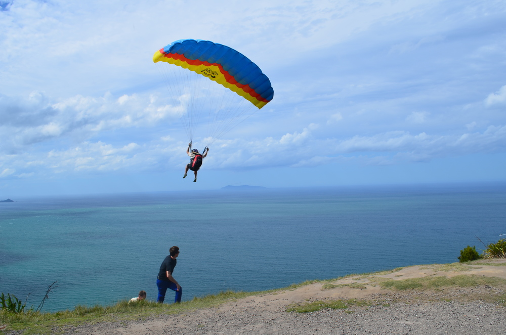 Paragliding from the top