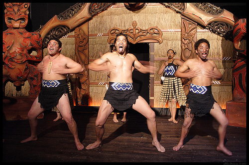 Maori Haka is performed by the All Blacks before every game.  Source