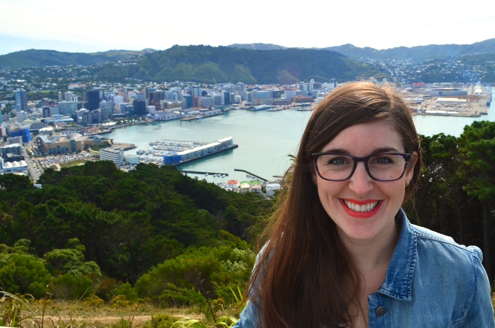Taking in the view of Wellington and Oriental Bay from Mt. Victoria.