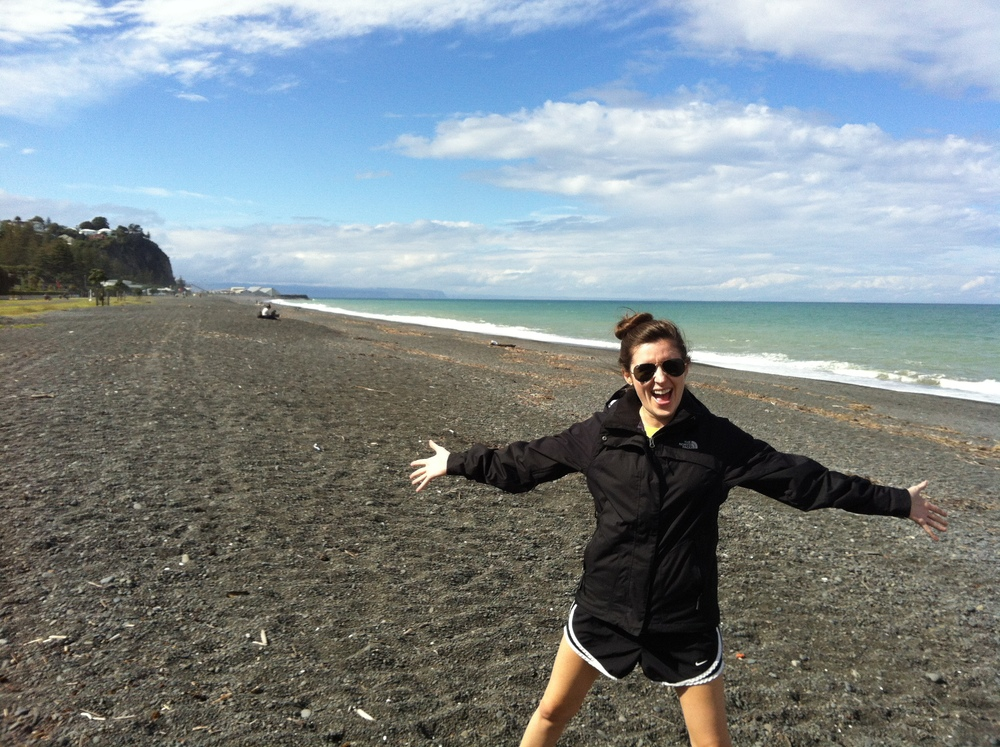 Day 1 in New Zealand: Stepping onto my 'front yard' for the first time.
