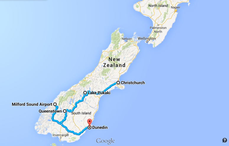 SouthIsland-itinerary