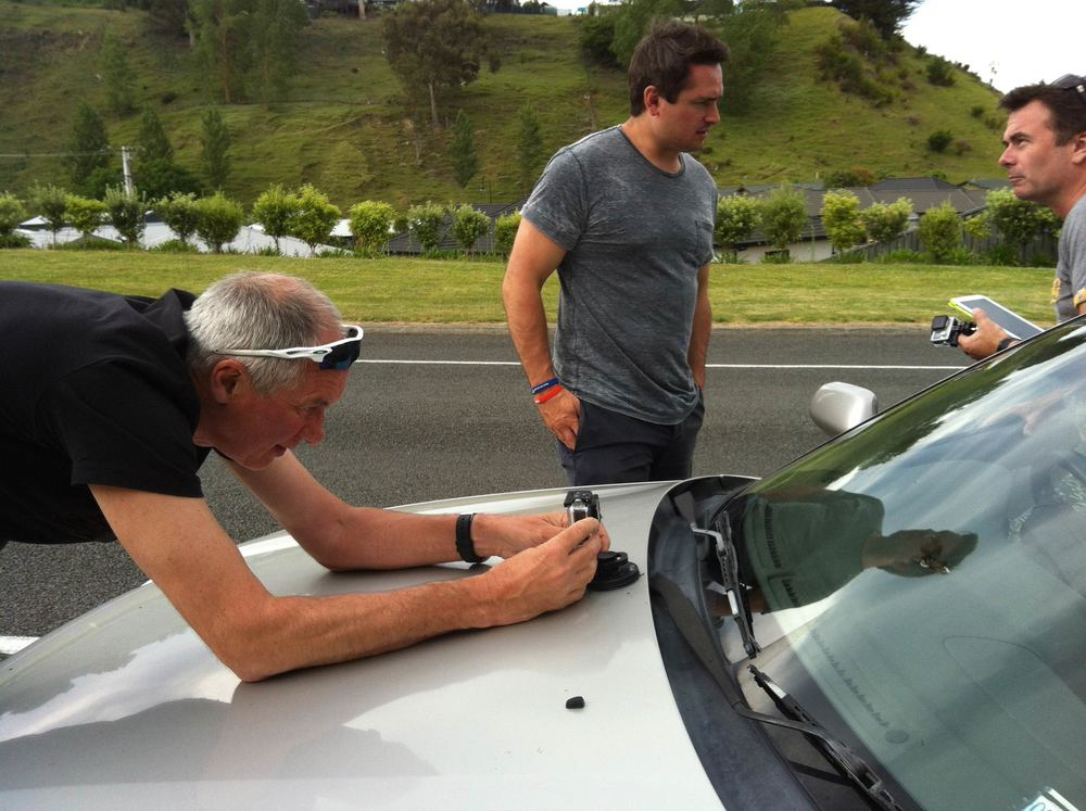 Getting the GoPro ready before our drive around the neighborhood 'Kardashian style' - just swap Kim's Bentley for our Subaru.  What you didn't get to see - me shrieking and Joe slamming on the breaks as a rabbit dashed in front of the car while the GoPro was filming. If only this were a comedy show.