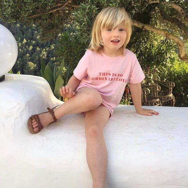 @vanessabreuer1 gorgeous girl wearing the popular candy pink tee. . . . . . . . . . . . . . . . . . . . . #thisisnoordinarylove #kids #kidstees #kidstshirt #tshirts #tee #spring #lowlakids #lowlaloves #slogantee