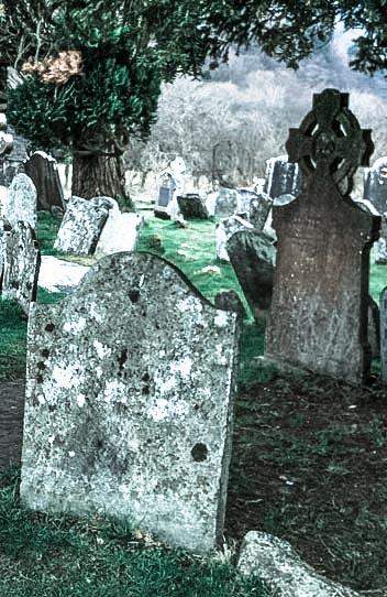 Een oude begraafplaats uit databank Hermans