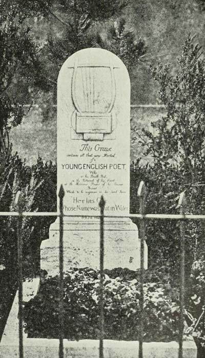Graf van dichter John Keats op Campo Cestio
