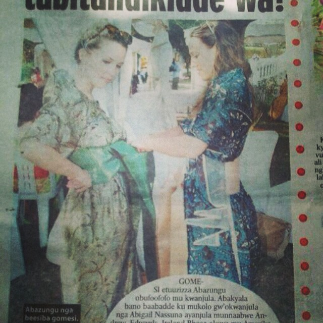 Me and Courtney, making the Ugandan tabloids!