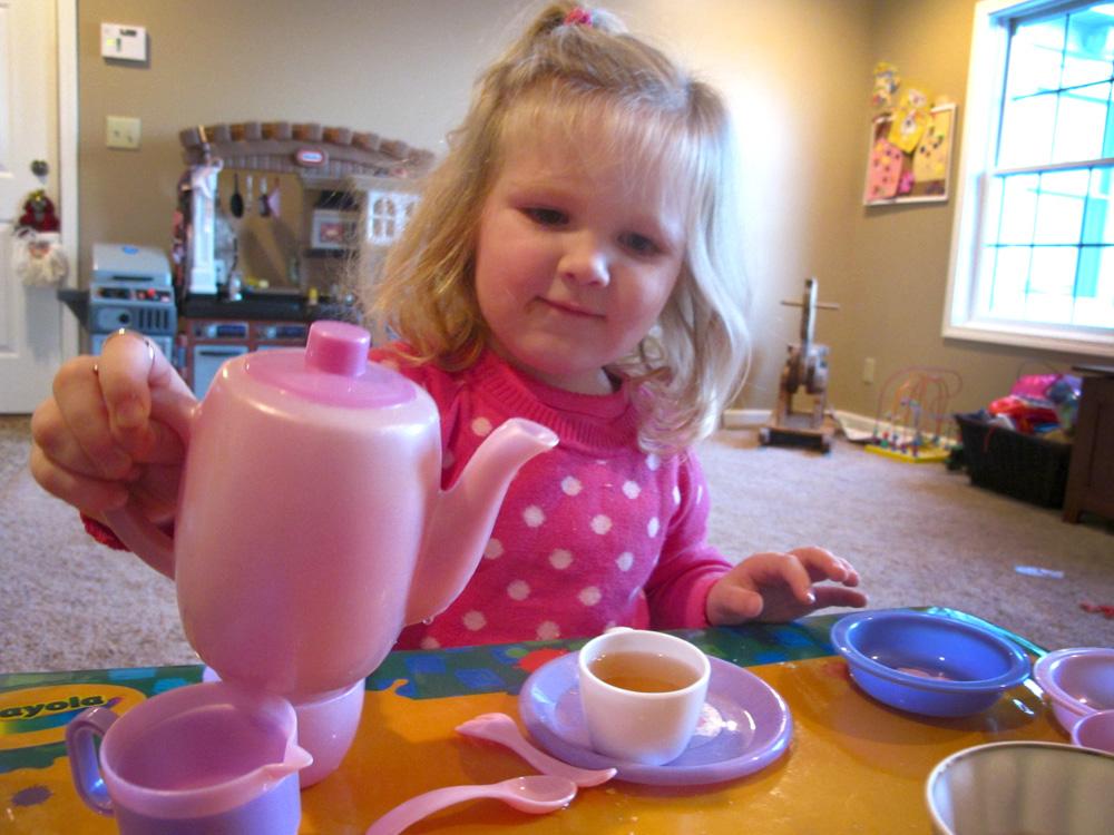 A tea party with Morgan, my niece