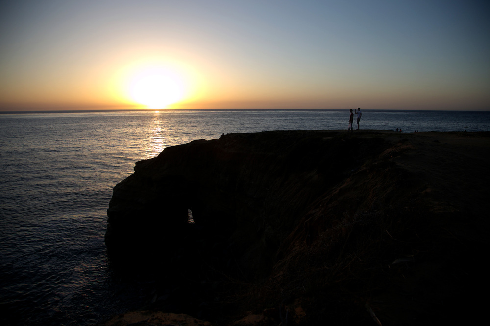 John and Eric at the sunset cliffs
