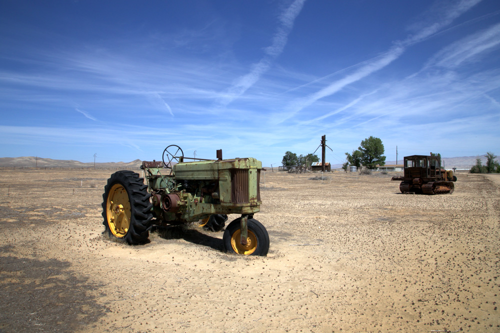 Carrizo plains antique farm equipment