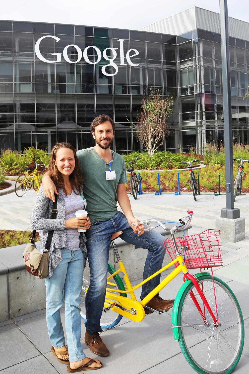 Touring Google's headquarters with Eric's friend and Google employee
