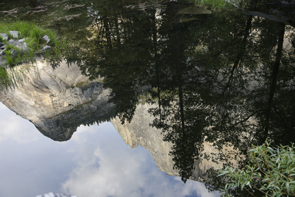 Half Dome reflected in Mirror Lake