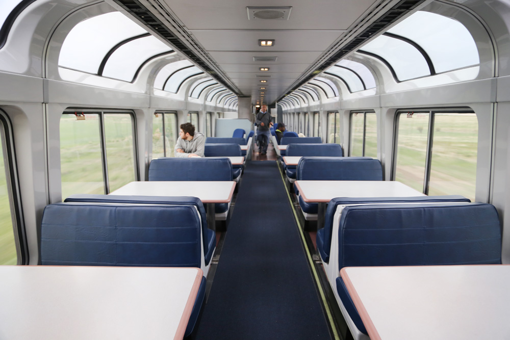 Amtrak's viewing car