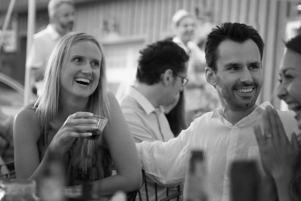 Amanda and Gautier, at their rehearsal dinner