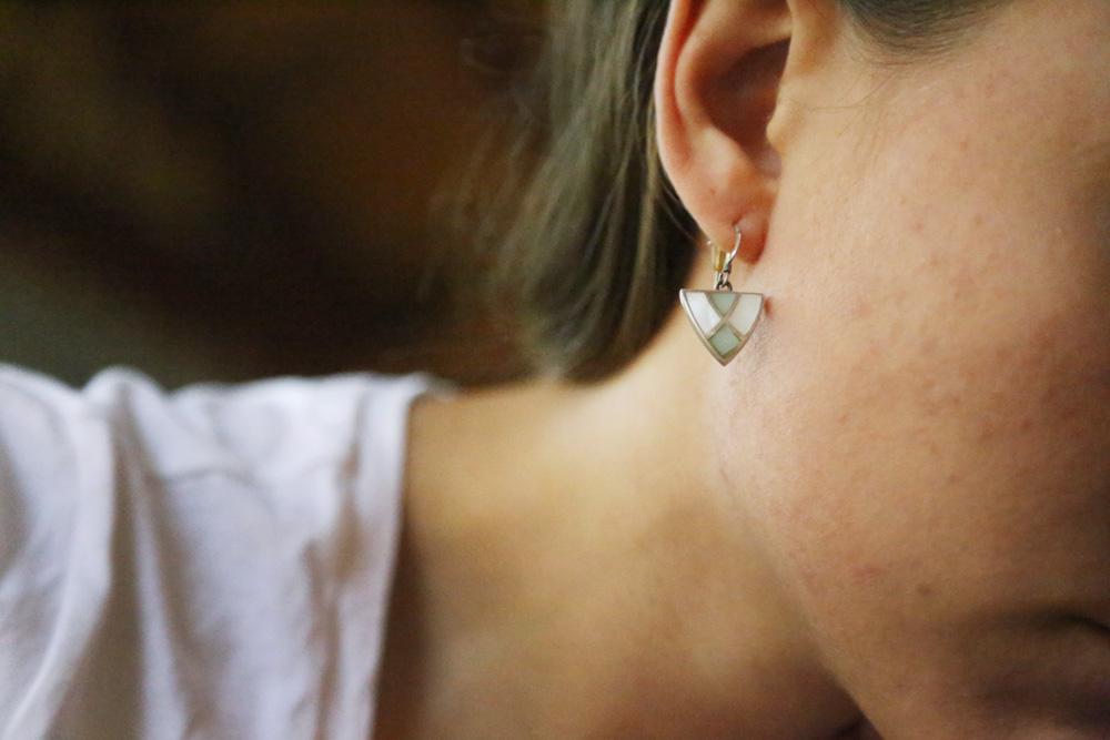 Mother of pearl earrings from Jordan